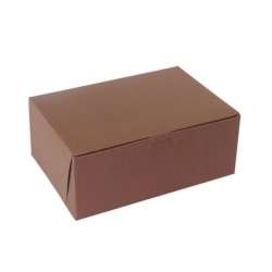 10 x 7 x 4 CHOCOLATE ONE-PIECE BAKERY/CUPCAKE BOXES