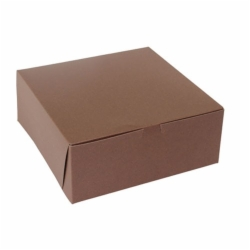 10 x 10 x 4 CHOCOLATE ONE-PIECE BAKERY/CUPCAKE BOXES