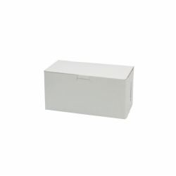 8 x 4 x 4 WHITE ONE-PIECE BAKERY BOXES