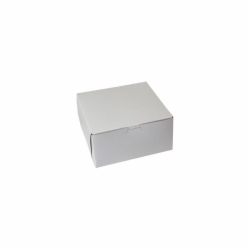 8 x 8 x 4 WHITE ONE-PIECE BAKERY BOXES