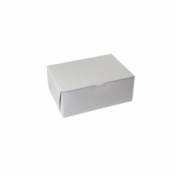 12 x 9 x 4 WHITE ONE-PIECE BAKERY BOXES