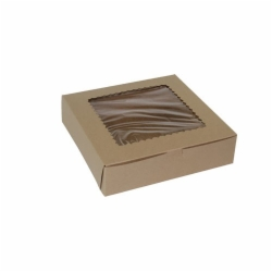 10 x 10 x 2.5 NATURAL KRAFT WINDOWED CUPCAKE BOXES