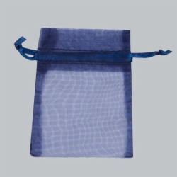 3 x 4 NAVY BLUE SHEER ORGANZA POUCHES