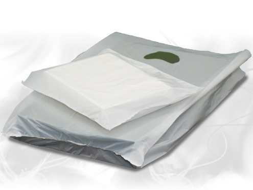 White Hi-Density Plastic Bags